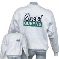 "Sweatshirt ""King of Queens"", aschgrau"
