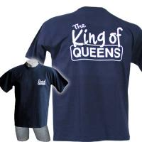 "T-Shirt ""King of Queens"", navy"